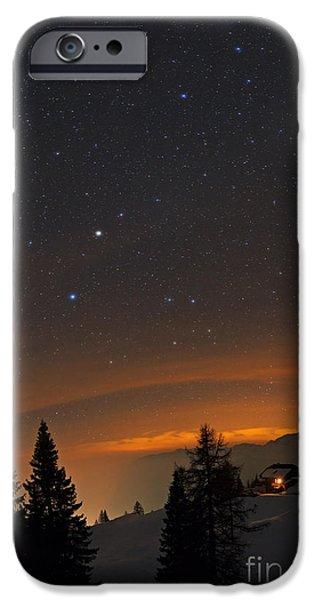 Snowy Night iPhone Cases - Night Sky, Carinthia, Austria iPhone Case by Babak Tafreshi