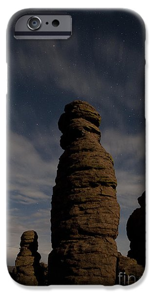 Strange iPhone Cases - Night sky over Chiricahua iPhone Case by Keith Kapple