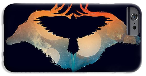 Evening Digital Art iPhone Cases - Night Sky Over Savannah iPhone Case by Budi Satria Kwan
