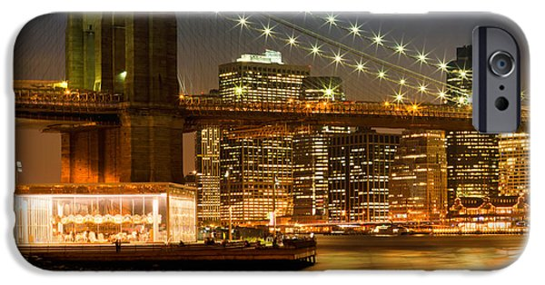 Facade iPhone Cases - Night-Skylines NEW YORK CITY iPhone Case by Melanie Viola