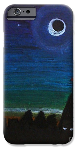 Dark Skies Pastels iPhone Cases - Night iPhone Case by Sophia Newtown