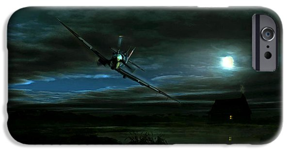 Wwi iPhone Cases - Night Spit iPhone Case by Peter Van Stigt