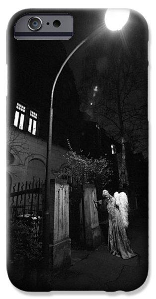 Night Angel iPhone Cases - Night Stroll iPhone Case by Robert Klemm