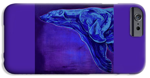 Vivid Colour Paintings iPhone Cases - Night Swimmer iPhone Case by Derrick Higgins