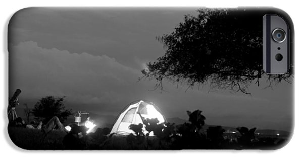 Overhang iPhone Cases - Night time camp site iPhone Case by Kantilal Patel