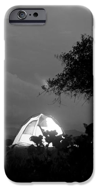Night time camp site iPhone Case by Kantilal Patel