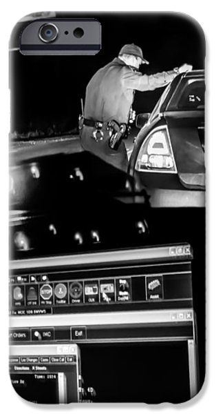 Night Traffic Stop iPhone Case by Bob Orsillo
