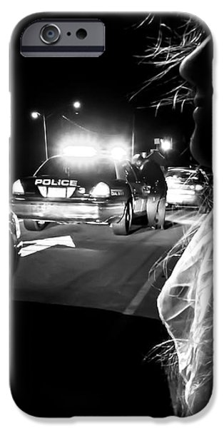 Night Traffic Stop Three iPhone Case by Bob Orsillo