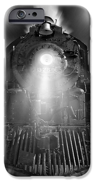 Steam Engine iPhone Cases - Night Train On The Move iPhone Case by Mike McGlothlen