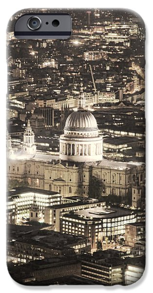 Business iPhone Cases - Night View over St Pauls iPhone Case by Jasna Buncic