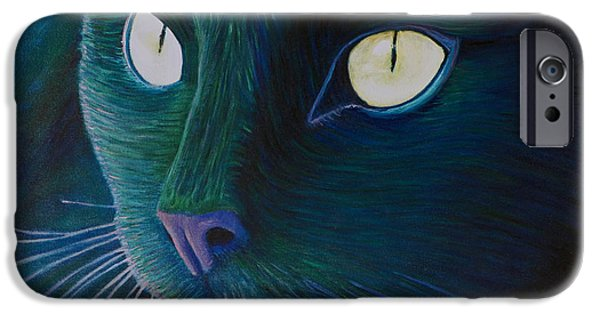 Kitten iPhone Cases - Night Vision iPhone Case by Brian  Commerford
