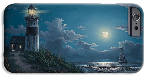 Lighthouses iPhone Cases - Night Watch iPhone Case by Kyle Wood