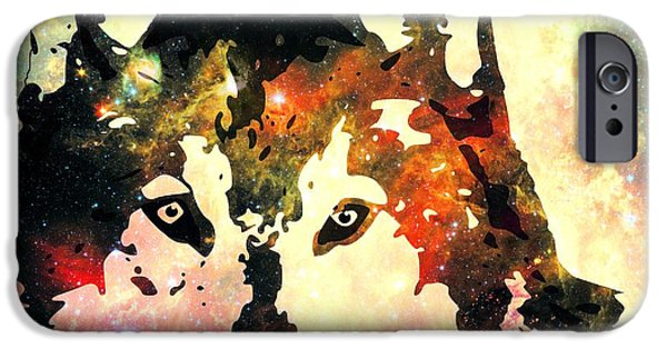 Anastasiya Mixed Media iPhone Cases - Night Wolf iPhone Case by Anastasiya Malakhova