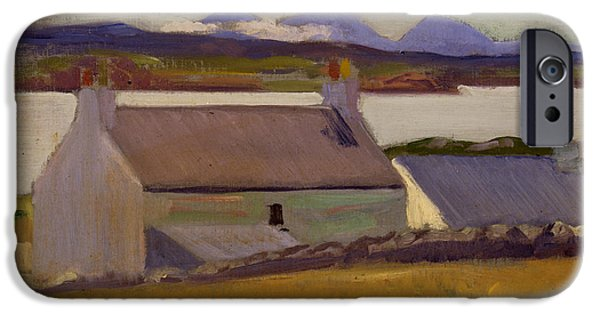 Hut iPhone Cases - Nightfall  Iona iPhone Case by Francis Campbell Boileau Cadell