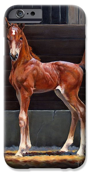 American Saddlebred iPhone Cases - Nightlight II iPhone Case by Jeanne Newton Schoborg