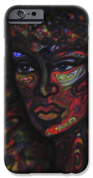 Airbrush Mixed Media iPhone Cases - Nightmare iPhone Case by Debbi Vigil
