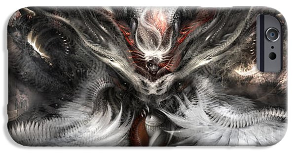 H.r. Giger iPhone Cases - Nightmares Before Christmas iPhone Case by Alex Ruiz