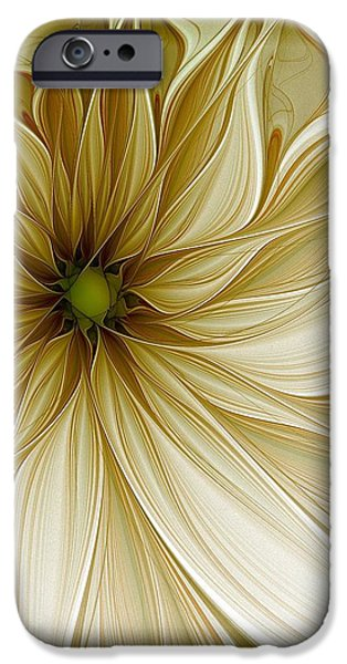Floral Digital Art Digital Art iPhone Cases - Nights in White Satin iPhone Case by Amanda Moore