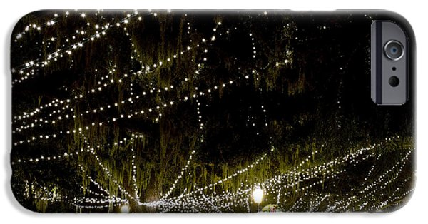 Christmas Holiday Scenery iPhone Cases - Nights Of Light 2 iPhone Case by Kenneth Albin