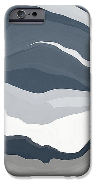 Shape iPhone Cases - Nightscape Layers iPhone Case by David G Paul