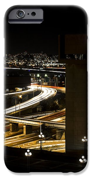 Enfants iPhone Cases - Nighttime Commute  iPhone Case by Andrew Pacheco