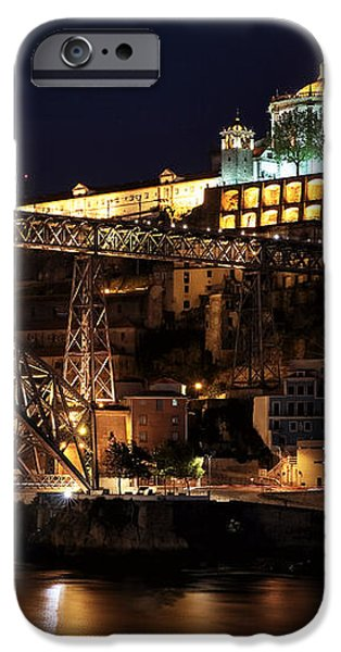 Nighttime in Porto iPhone Case by John Rizzuto