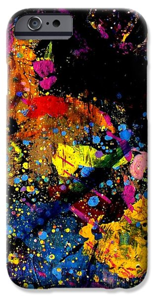 Abstract Expressionism iPhone Cases - Nighttown I iPhone Case by John  Nolan
