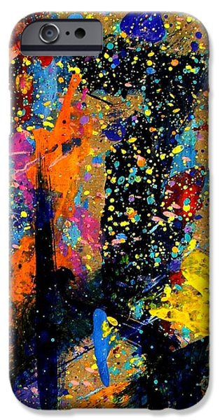Abstract Expressionism iPhone Cases - Nighttown II iPhone Case by John  Nolan