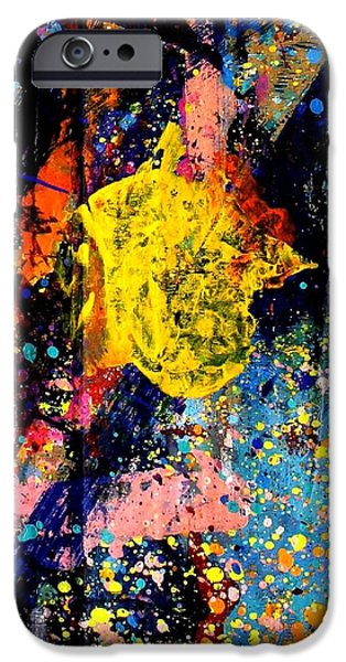 Fine Art Abstract iPhone Cases - Nighttown III iPhone Case by John  Nolan