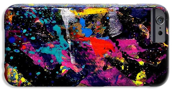Fine Art Abstract iPhone Cases - Nighttown  IV  iPhone Case by John  Nolan