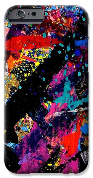 Abstract Expressionism iPhone Cases - Nighttown iPhone Case by John  Nolan