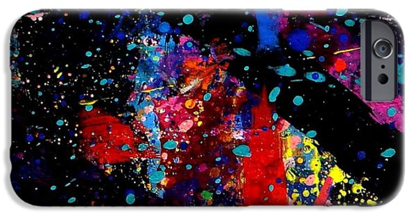 Abstract Expressionism iPhone Cases - Nighttown V iPhone Case by John  Nolan