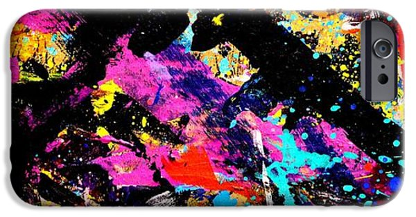 Abstract Expressionism iPhone Cases - Nighttown XII iPhone Case by John  Nolan
