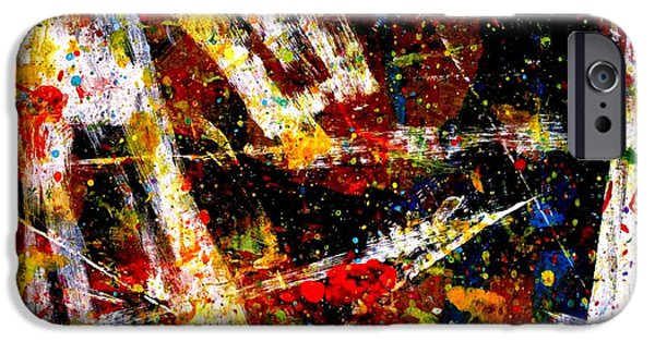 Fine Art Abstract iPhone Cases - Nighttown  XV iPhone Case by John  Nolan