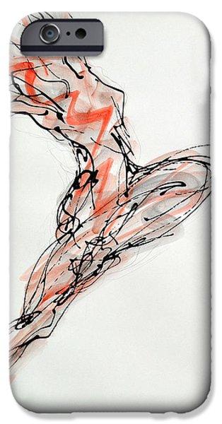 Nike Drawings iPhone Cases - Nike iPhone Case by Boryana Korcheva