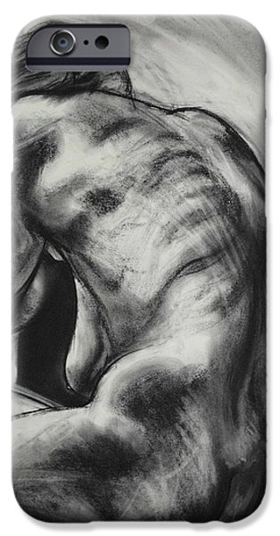 Nike Drawings iPhone Cases - NIKE - handcrafted artist original based on this design iPhone Case by Greg Hoey