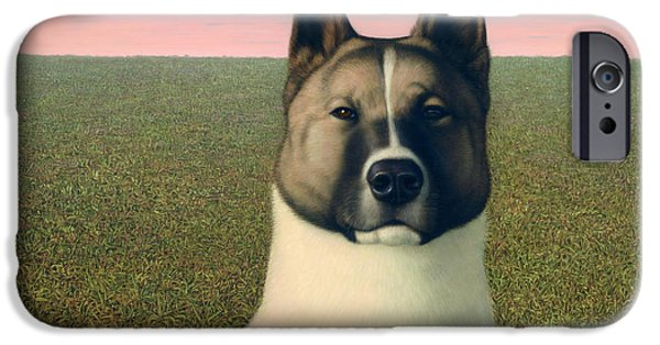Huskies iPhone Cases - Nikita iPhone Case by James W Johnson