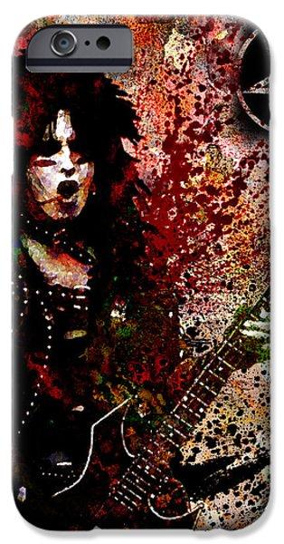 Vince iPhone Cases - Nikki Sixx - Motley Crue  iPhone Case by Ryan RockChromatic