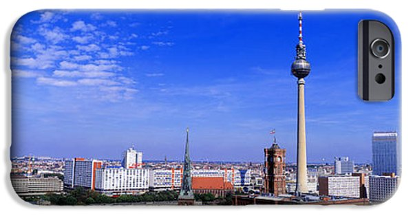 Berlin Germany iPhone Cases - Nikolai Quarter, Berlin, Germany iPhone Case by Panoramic Images