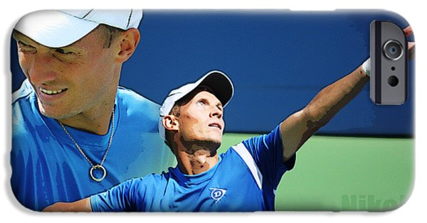 Wta iPhone Cases - Nikolay Davydenko iPhone Case by Nishanth Gopinathan