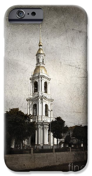 Marine iPhone Cases - Nikolsky Cathedral iPhone Case by Elena Nosyreva
