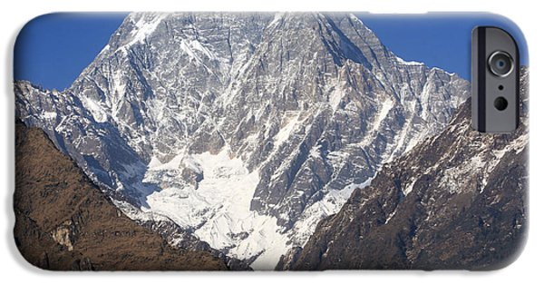 Circuit iPhone Cases - Nilgiri South - The Himalayas - Nepal iPhone Case by Aidan Moran