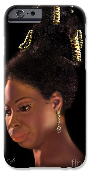 Nina Simone iPhone Case by Reggie Duffie