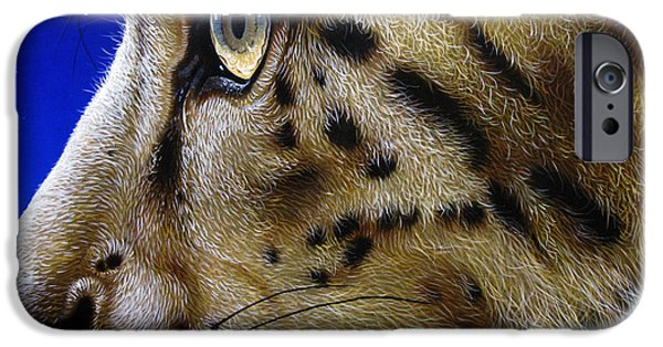 Snow iPhone Cases - Nina the Snow Leopard iPhone Case by Jurek Zamoyski