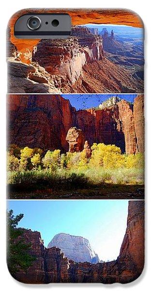 Nine Utah Landmarks iPhone Case by Catherine Sherman