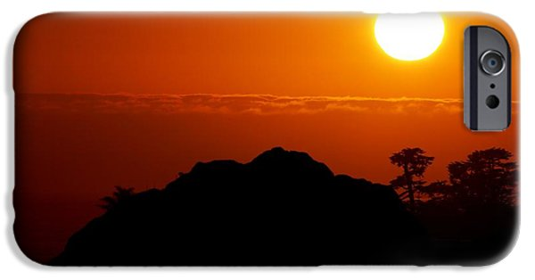 Steamer Lane iPhone Cases - Nine-eleven Sunset iPhone Case by Ru Tover