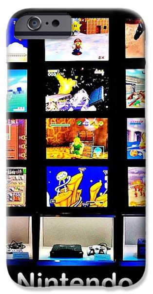 Nintendo History iPhone Case by Benjamin Yeager