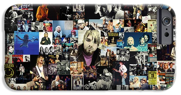 Legend iPhone Cases - Nirvana collage iPhone Case by Taylan Soyturk