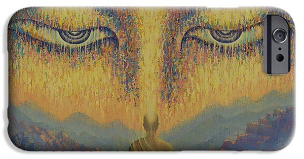 Tibetan Buddhism iPhone Cases - Nirvana iPhone Case by Vrindavan Das