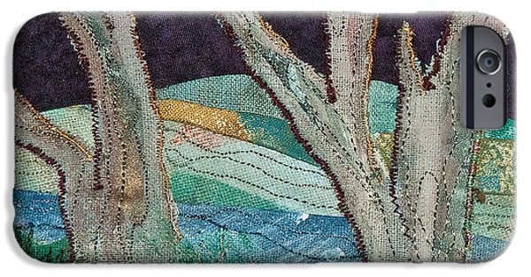 Spring Tapestries - Textiles iPhone Cases - Nisqually II iPhone Case by Susan Macomson